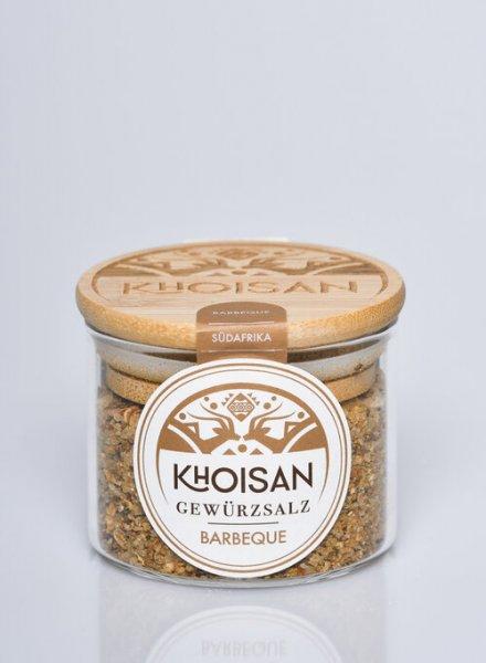 Bio-Gewürzsalz Barbeque-Bio-Gewuerzsalz Barbeque naturreines Meersalz von Khoisan-Fairer Handel mit Meersalz und Gewuerzen-Fairtrade Bio-Gewuerzsalz aus Suedafrika