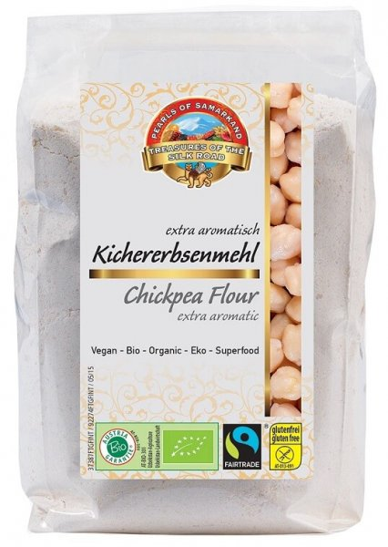 Bio-Kichererbsenmehl-Bio-Kichererbsenmehl glutenfrei aus Fairem Handel Lemberona-Fairer Handel mit Kichererbsen und Mehl-Fairtrade Bio-Kichererbsenmehl von Kleinbauern aus Usbekistan