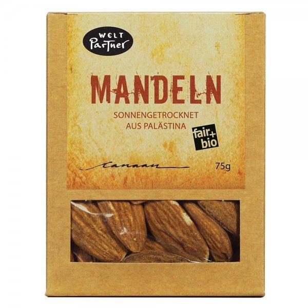 Bio-Mandeln, sonnengetrocknet-Bio-Mandeln Rohkost Qualitaet aus Fairem Handel-Fairer Handel mit Mandeln und Nuessen-Fairtrade Bio-Mandeln von Weltpartner aus Palaestina