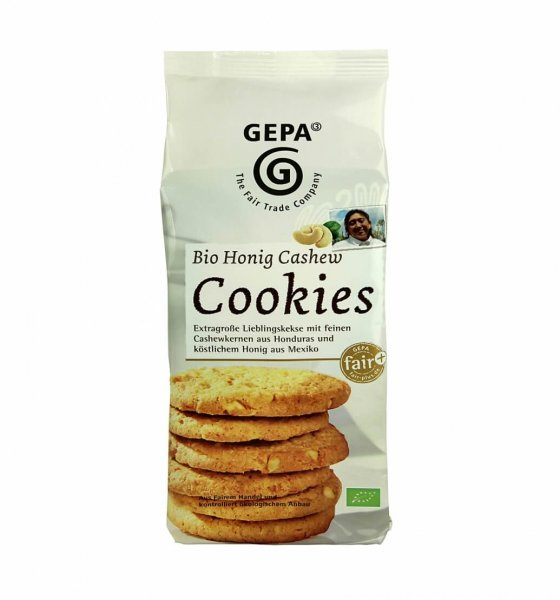 Bio-Cookies Honig-Cashew-Bio-Kekse Cookies aus Fairem Handel-Fairer Handel mit Honig, Nuessen und Gebaeck-Fair Trade Bio-Cookies Kekse aus Honduras Mexiko