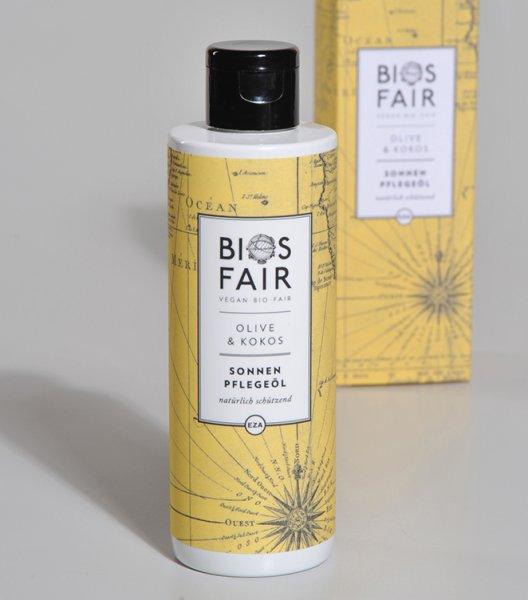 Bio-Sonnenpflegeöl Olive & Kokos-Sonnenpflegeoel Biosfair aus Fairem Handel von EZA-Fairer Handel mit Naturkosmetik und Wellnessprodukten-Faitrade Bio-Sonnenpflegeoel mit Zutaten von Kleinbauern