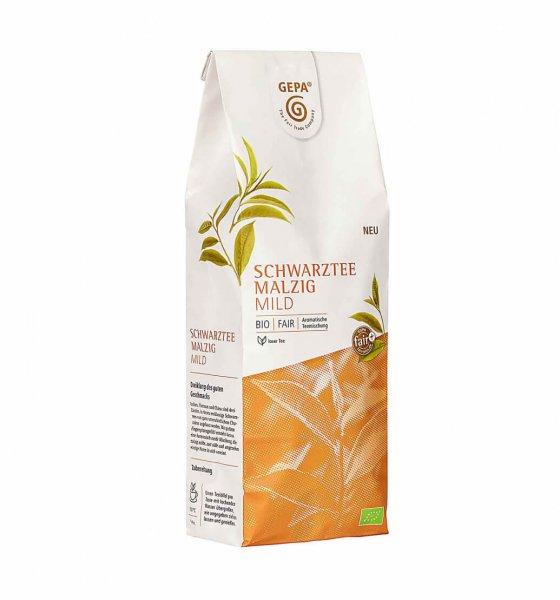 Bio-Schwarztee Mischung, malzig-mild - 250 g-Bio-Schwarztee Mischung malzig aus Fairem Handel von GEPA-Fairer Handel mit Tee und Schwarztee aus Asien-Fairtrade Bio-Schwarztee aus Indien, Vietnam, China