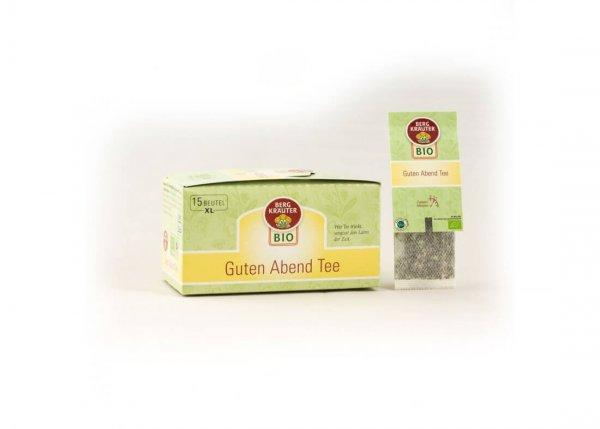 Guten-Abend-Tee Bio-Kräutertee im XL-Teebeutel-Bio-Kraeutertee Guten Abend aus Fairem Handel-Fairer Handel mit Tee und Kraeutern in Europa-Fairtrade Bio-Kraeutertee aus Oesterreich