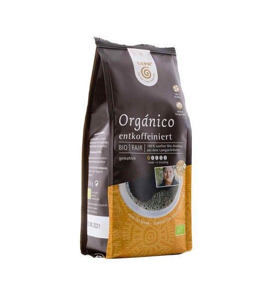 Bio-Röstkaffee Orgánico entkoffeiniert, gemahlen-Bio-Roestkaffee Filterkaffee entkoffeiniert aus Fairem Handel GEPA-Fairer Handel mit Kaffee von Kleinbauern-Fairtrade Bio-Kaffee entkoffeiniert aus Mittelamerika Suedamerika