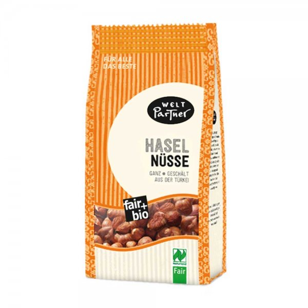 Bio-Haselnüsse, ganz-Bio-Haselnuesse aus Fairem Handel von Weltpartner-Fairer Handel mit Nuessen und Trockenobst-Fairtrade Bio-Haselnuesse von Kleinbauern aus der Tuerkei