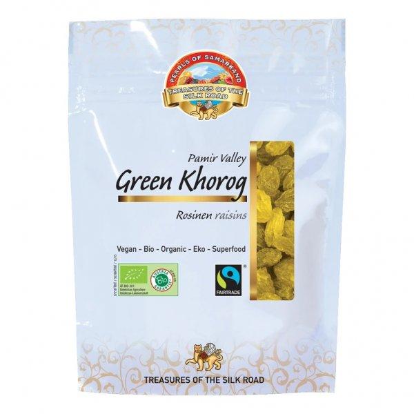 grüne Bio-Rosinen Green Khorog-Bio-Rosinen Green Khorog ohne Zucker aus Fairem Handel Lemberona-Fairer Handel mit Rosinen, Trockenobst und Rohkost-Fairtrade Bio-Rosinen von Kleinbauern aus Usbekistan