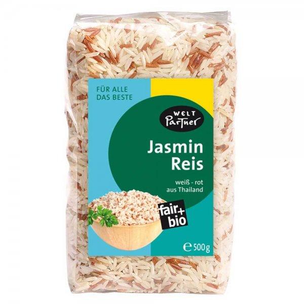 Bio-Jasminreis, weiss-rot-Bio-Jasminreis weiss rot aus Fairem Handel von Weltpartner-Fairer Handel mit Jasmin Duftreis und Getreide-Faitrade Bio-Jasminreis von Kleinbauern aus Thailand