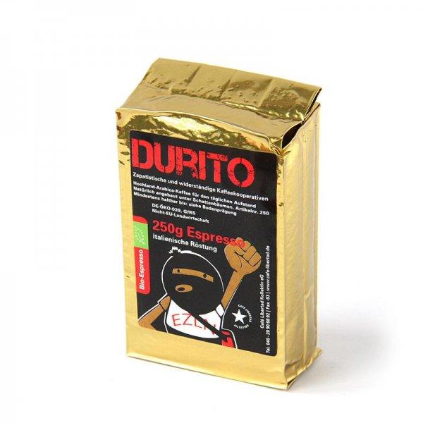 Bio-Espresso RebelDía Durito, gemahlen-Bio-Espresso aus Fairem Handel-Fairer Handel mit Kaffee-Fair Trade Bio-Espresso aus Mexiko