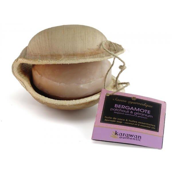 Ayurveda-Seife Bergamotte-Ayurveda-Seife Bergamotte Zero Waste aus Fairem Handel-Fairer Handel mit Seifen und Naturkosmetik-Fair Trade Ayurveda Seife Bergamotte aus Indien