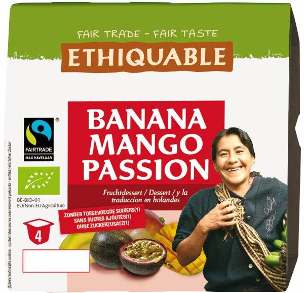 Bio-Fruchtdessert Banana-Mango Passion