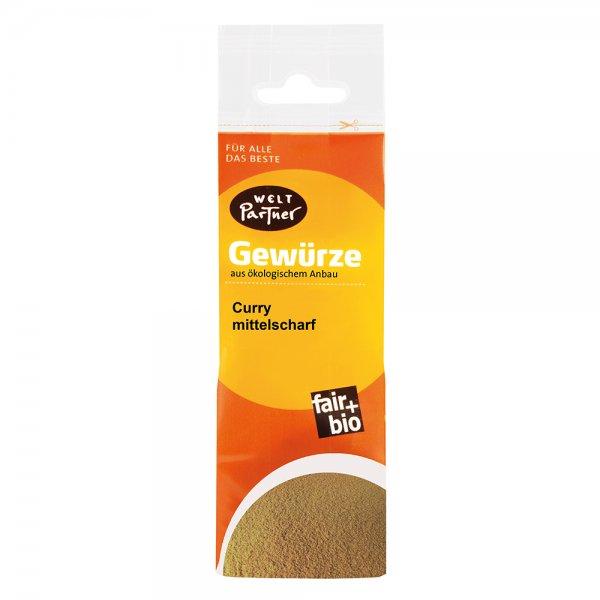 Bio-Curry, mittelscharf-Bio-Curry mittelscharf aus Fairem Handel von Weltpartner-Fairer Handel mit Gewuerzen und Kraeutern-Fairtrade Bio-Currymischung von Kleinbauern aus Indien
