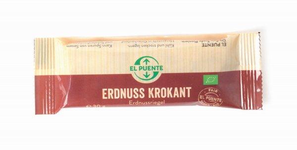 Bio-Erdnuss-Krokant-Riegel