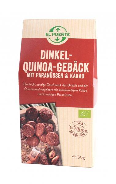 Dinkel-Quinoa Gebäck mit Kakao & Paranüssen