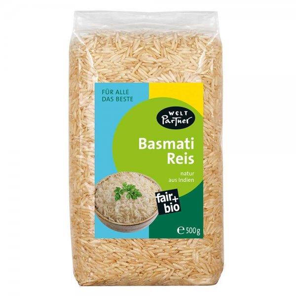 Bio-Basmatireis, braun-Bio-Basmatireis brau aus Fairem Handel von Weltpartner-Fairer Handel mit Basmati und andere Reisspezialitaeten-Fairtrade Bio-Basmatireis von Kleinbauern aus Indien