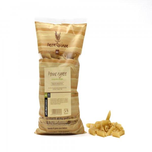 Bio-Penne Rigate mit Quinoa-Bio-Pasta Penne Rigate mit Quinoa aus Fairem Handel von Altromercato-Fairer Handel mit Pasta und Quinoa-Fairtrade Bio-Quinoa-Pasta aus Italien