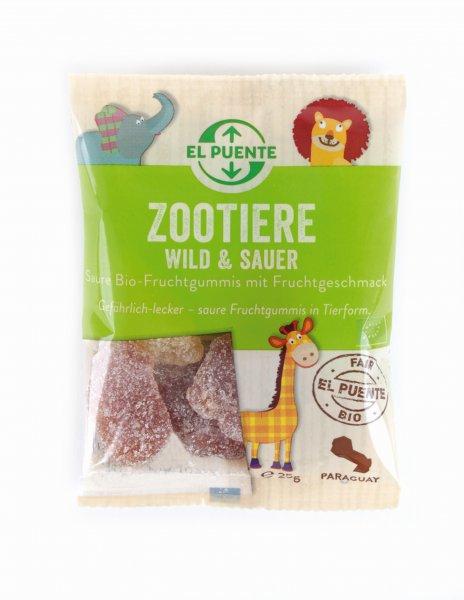 Bio-Gummibaerchen Zootiere wild & sauer-saure Bio-Fruchtgummis aus Fairem Handel-Fairer Handel mit Zucker und Suessigkeiten-Fair Trade Bio-Gummibaerchen aus Paraguay