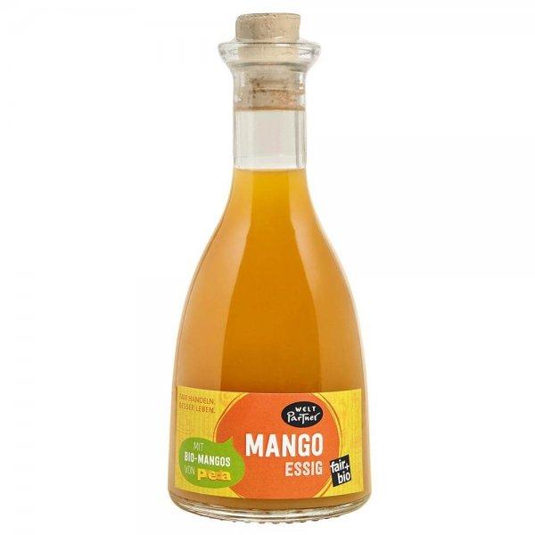 Bio-Mango-Essig-Bio-Mango Essig aus Fairem Handel von Weltpartner-Fairer Handel mit Mangos fuer Kinderrechte-Fairtrade Bio-Mango Essig von PREDA Philippinen