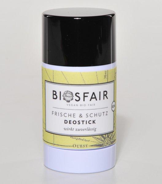 Deostick Frische & Schutz-Bio-Deostick Biosfair aus Fairem Handel von EZA-Fairer Handel mit Naturkosmetik und Wellnessprodukten-Faitrade Bio-Deostick mit Zutaten von Kleinbauern
