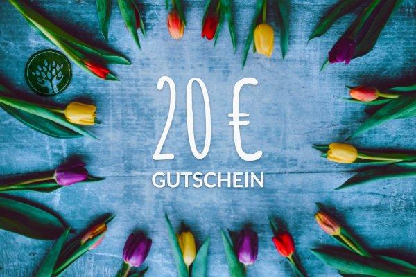 Gutschein 20 Euro-Geschenk Gutschein Bio-Sortiment Fairer Handel 20 Euro-Fairer Handel mit Geschenken und Gutscheinen-Fair Trade Bio-Geschenk-Gutschein von biotop