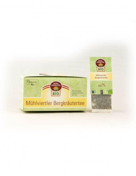 Mühlviertler Bio-Bergkräutertee im XL-Teebeutel-Bio-Kraeutertee Muehlviertler Bergkraeuter aus Fairem Handel-Fairer Handel mit Tee und Kraeutern in Europa-Fairtrade Bio-Kraeutertee aus Oesterreich