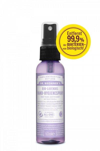 Bio-Lavendel Handy-Hygienespray-Bio-Hand Hygienespray Lavendel aus Fairem Handel-Fairer Handel mit Naturskosmetik und Hygieneartikel-Bio Hand-Hygienespray Lavendel von Dr. Bronner's