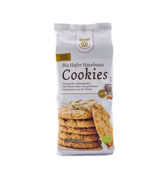 Bio-Cookies Hafer-Haselnuss-Bio-Kekse Cookies Hafer Hafer Haselnuss aus Fairem Handel GEPA-Fairer Handel mit Hafer, Nuessen und Gebaeck-Fair Trade Bio-Cookies Kekse aus Tuerkei Paraguay Ghana