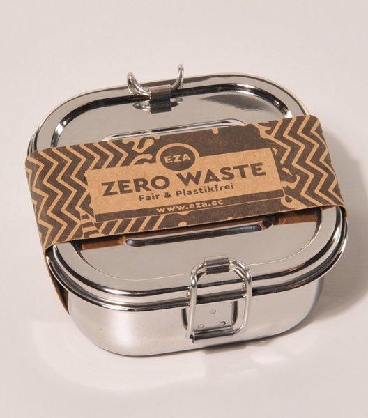 Brotdose / Lunchbox aus Edelstahl, quadratisch-nachhaltige Brotdose Lunchbox aus Fairem Handel von EZA-Fairer Handel mit nachhaltigen Produkten Zubehoer-Fairtrade Brotdose Lunchbox aus Indien