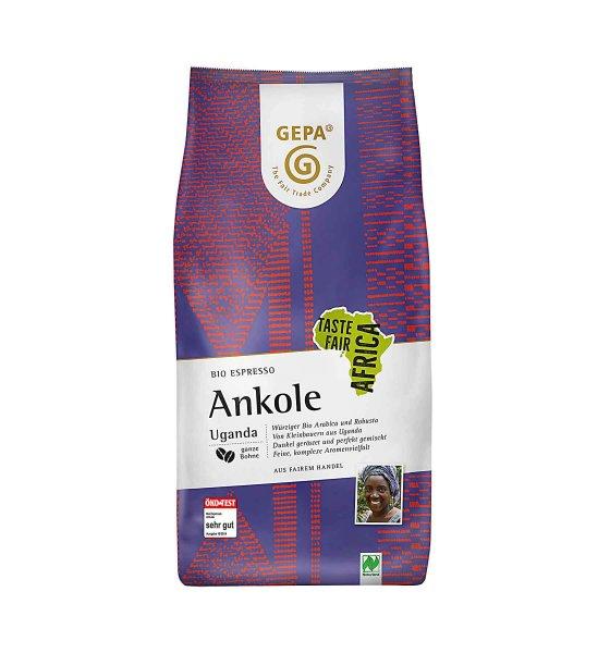 Bio-Espresso 'Ankole', ganze Bohne-Bio-Espresso Ankole ganze Bohne aus Fairem Handel von GEPA-Fairer Handel mit Kaffee, Espresso und Kakao-Fairtrade Bio-Espresso von GEPA aus Uganda Afrika