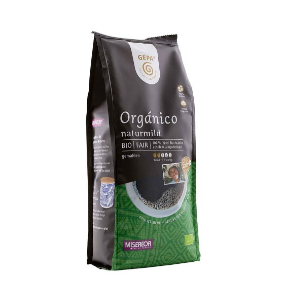 Bio-Röstkaffee Café Orgánico naturmild, gemahlen - 250 g-Bio-Roestkaffee Organico naturmild aus Fairem Handel von GEPA-Fairer Handel mit Kaffee und Kakao-Fair Trade Bio-Roestkaffee aus Mexiko, Peru, Bolivien, Honduras