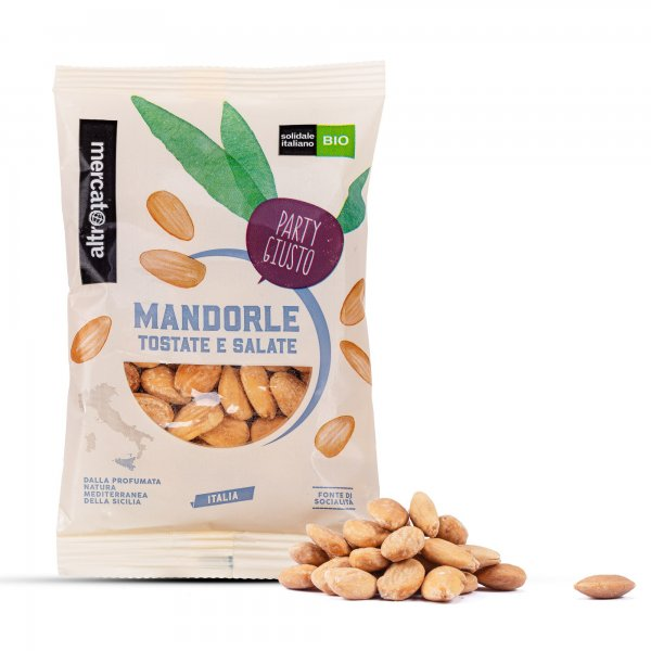 Bio-Mandeln, geröstet und gesalzen-Bio-Mandeln aus Fairem Handel von Altromercato Italien-Fairer Handel mit Mandeln und Nuessen in Europa-Fair Trade Bio-Mandeln Sozialkooperative aus Sizilien Italien