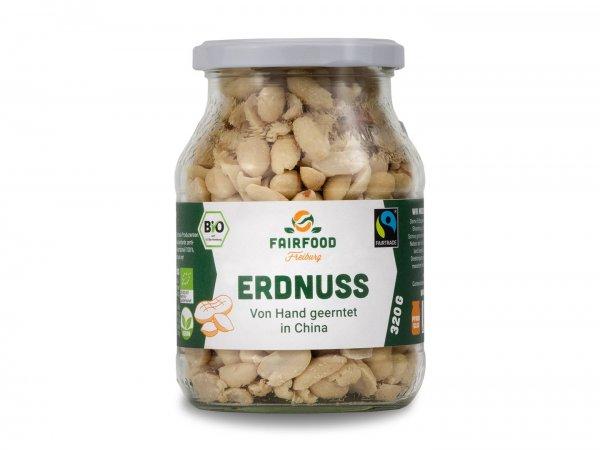 Bio-Erdnüsse, naturbelassen-Naturbelassene Bio-Erdnuesse aus Fairem Handel von Fairfood-Fairer Handel mit Nuessen und Rohkost-Fairtrade Bio-Erdnuesse roh aus China