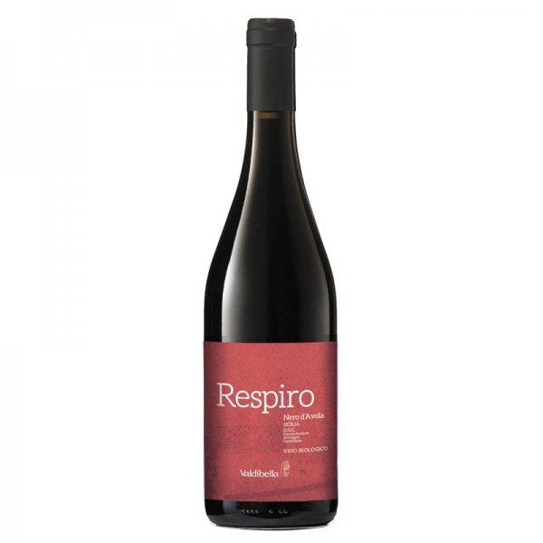 Bio-Nero d'Avola D.O.C. Respiro 2017 - Valdibella-Bio-Rotwein Nero d'Avola ohne Sulfite trocken aus Fairem Handel Valdibella-Fairer Handel ohne Mafia mit Wein in Europa-Fairtrade Bio-Rotwein von der Sozialkooperative aus Sizilien