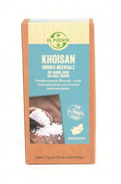 Naturreines Meersalz 'Khoisan', grob - 500 g-Naturreines Meersalz Khosian mikroplastikfrei aus Fairem Handel von El Puente-Fairer Handel mit natuerlichem mikroplastikfreiem Meersalz-Fairtrade Meersalz naturrein von Turqle Trading aus Suedafrika