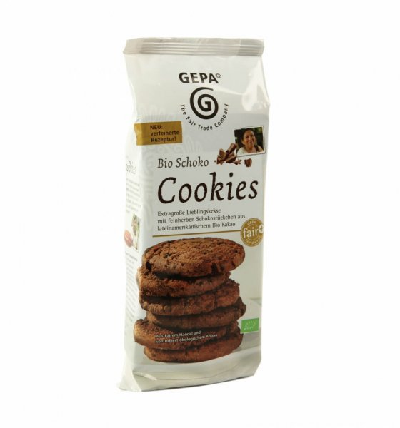 Bio-Cookies Schoko-Bio-Kekse Cookies aus Fairem Handel-Fairer Handel mit Kakao, Schokolade und Gebaeck-Fairtrade Bio-Cookies Schoko aus Peru