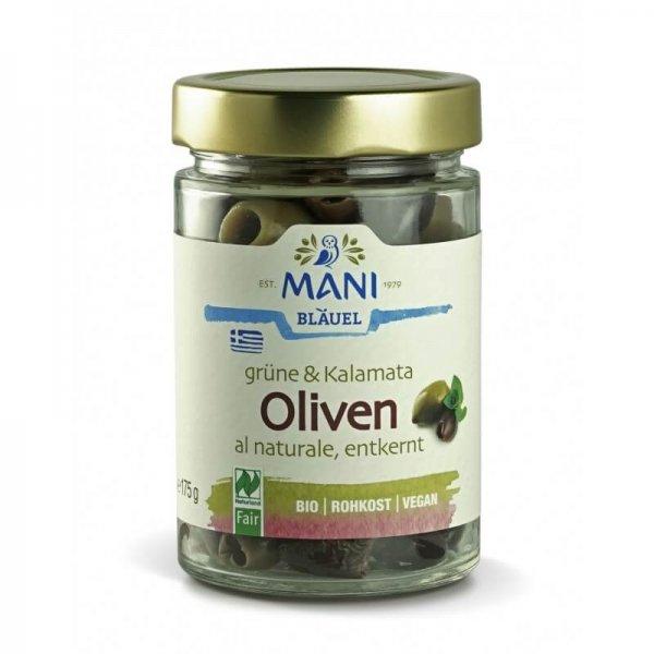 grüne & Kalamata Bio-Oliven, al naturale