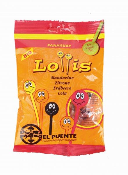 Bio-Lollis aus Rohrohrzucker-Bio-Lollis aus Fairem Handel von El Puente-Fairer Handel mit Suessigkeiten und Lollis-Fair Trade Bio-Lollis mit Rohrohrrzucker aus Paraguay