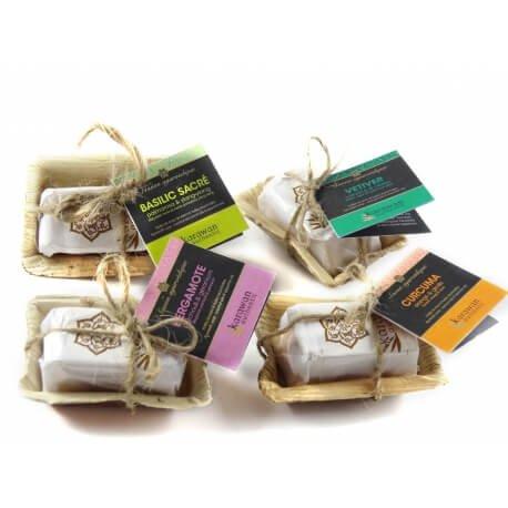 Ayurveda-Seife Mix (4 Sorten)-Ayurveda-Seifen gemischt aus Fairem Handel-Fairer Handel mit Seifen und Naturkosmetik-Fair Trade Ayurveda Seifen von Karawan Authentic Indien