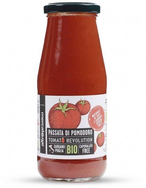 passierte Bio-Tomaten 'Tomato Revolution'-Bio-Tomaten passata di pomodoro aus Fairem Handel Altromercato-Fairer Handel ohne Mafia mit Gemuese in Europa Italien-Fairtrade Bio-Passata di pomodoro aus Italien