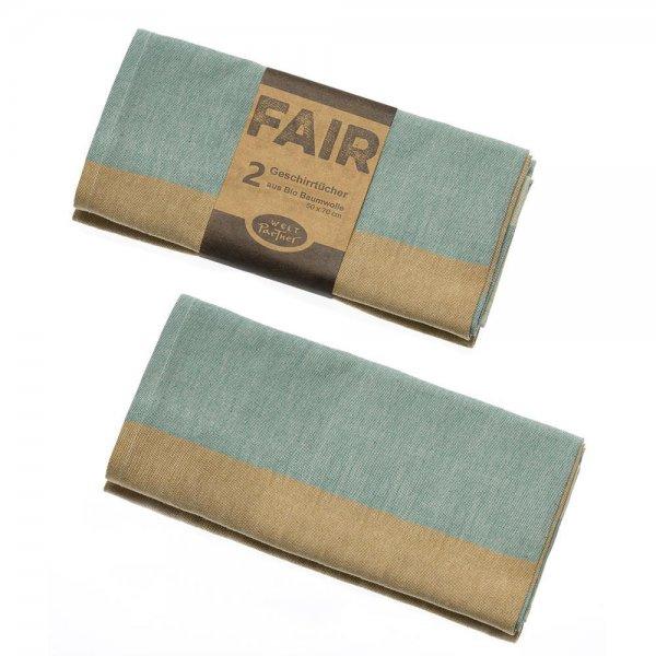 Geschirrtücher aus Bio-Baumwolle - Blautöne-Bio-Baumwolle Geschirrtuecher aus Fairem Handel Weltpartner-Fairer Handel mit Bio-Baumwolle Zubehoer fuer Kueche-Fairtrade Bio-Baumwoll-Geschirrtuecher aus Indien