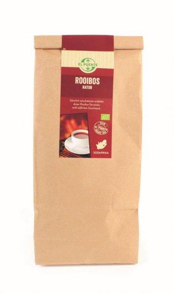 Bio-Rooibostee Natur, Grosspackung-Bio-Rooibostee Vorteilspackung aus Fairem Handel von El Puente-Fairer Handel mit Rooibostee in Grosspackungen-Fairtrade Bio-Rooibostee aus Suedafrika