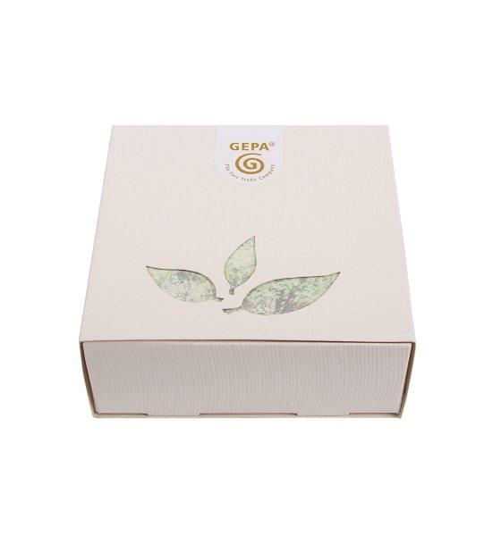 Bio-Tee-Raritäten Geschenk-Set-Geschenk-Set mit Bio-Tee-Raritaeten aus Fairem Handel von GEPA-Fairer Handel mit Geschenken und Tee-Fairtrade Bio-Tee-Raritaeten Geschenk-Idee aus Indien