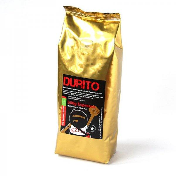 Bio-Espresso RebelDía Durito, ganze Bohne-Bio-Espresso aus Fairem Handel-Fairer Handel mit Kaffee-Fair Trade Bio-Espresso aus Mexiko