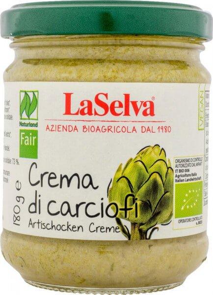 Bio-Artischocken Creme-Bio-Artischocken Creme aus Fairem Handel von LaSelva-Fairer Handel mit Artischocken und Feinkost aus Italien-Fairtrade Bio-Artischocken Creme crema di carciofi