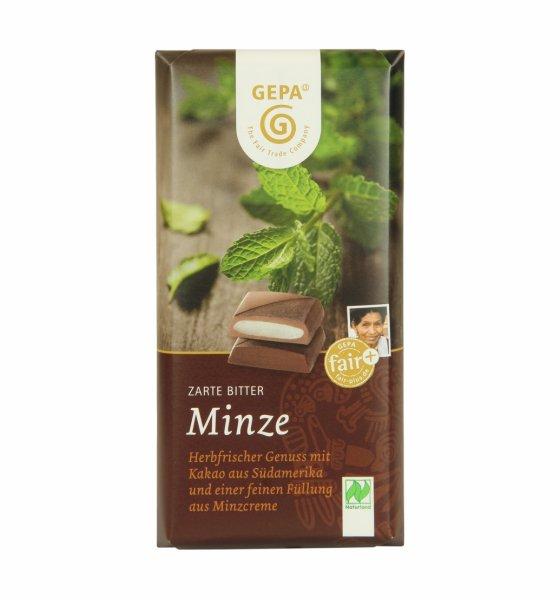 Bio-Zartbitterschokolade Minze