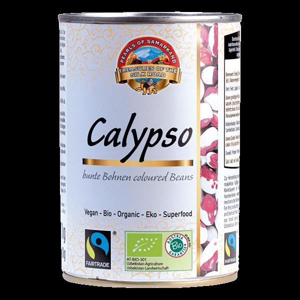 Bio-Calypsobohnen, gekocht-Bio-Calypsobohnen aus Fairem Handel Lemberona-Fairer Handel mit Huelsenfruechten und Bohnen-Fairtrade Bio-Calypsobohnen von Kleinbauern aus Usbekistan