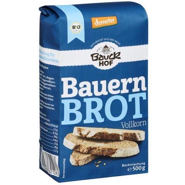 Bio-Bauernbrot Vollkorn, Demeter-Demeter Bio-Bauernbrot Mischung aus Fairem Handel von Bauck Hof-Fairer Handel mit Weizen, Roggen und Getreide in Europa-Fairtrade Bio-Bauernbrot Mischung von Bauern aus Deutschland