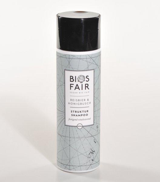 Bio-Struktur-Shampoo Reisbier & Honigbusch-Bio-Shampoo Reisbier Honigbusch aus Fairem Handel von EZA-Fairer Handel mit Naturkosmetik und Wellnessprodukten-Faitrade Bio-Shampoo von Zutaten von Kleinbauern