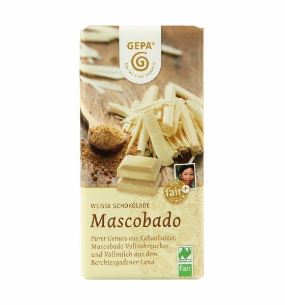 Weisse Bio-Schokolade Mascobado-Bio-Schokolade weiss aus Fairem Handel-Fairer Handel mit Schokolade Kakao Zucker-Faitrade Bio-Schokolade aus São Tomé Bolivien Philippinen