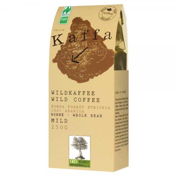Kaffa Wildkaffee Bio-Röstkaffe - mild, gemahlen-Kaffa Bio-Kaffee Wildkaffee aus Fairem Handel von Original Food-Fairer Handel mit Kaffee und Wildkaffee-Fairtrade Bio-Kaffee aus Wildsammlung aus dem Bonga Forest Kaffa Aethiopien