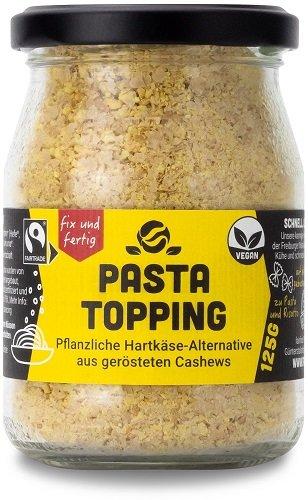 Bio-Pasta Topping-veganes Bio-Pasta Topping aus Fairem Handel von Fairfood Freiburg-Fairer Handel mit Nuessen und Kochzutaten vegane Kueche-Fairtrade Bio-Pasta Topping vegan von Kleinbauern aus Burkina Faso